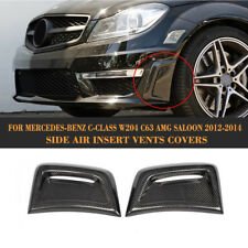 Carbon Fiber Side Air Dust Vent Kit for Mercedes Benz W204 C63 AMG Bumper 12-14