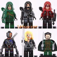 6pcs Set Minifigures Marvel Superheroes Green Arrow Deathstroke Fit Lego