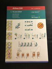Virgin Atlantic 1990/'s Boeing 747-400 Safety Card With Additional Life Rafts