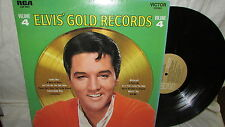 ELVIS PRESLEY RCA LP GOLD RECORDS VOLUME 4 LSP-3921 TAN LABEL M-