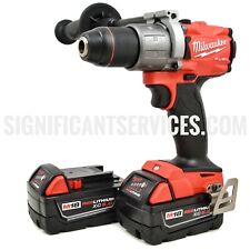 "Milwaukee 2804-20 M18 FUEL 18V 1/2"" Hammer Drill/Driver 2 5.0 AH batteries"