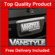 MERCEDES VITO VIANO 03-ON TAILGATE CHROME GRAB HANDLE COVER W639 STAINLESS STEEL