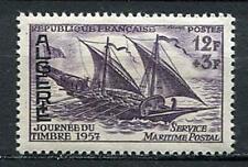 29767) ALGERIE 1957 MNH** Nuovi** Stamp Day - Ship 1v
