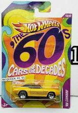 HOT WHEELS 2012 THE '60s CARS OF THE DECADES '69 CAMARO YELLOW