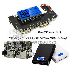Dual USB 5V 1A 2.1A Mobile Power Bank 18650 Battery Charger PCB Módulo Board