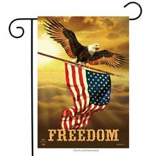 "Freedom Patriotic Garden Flag Bald Eagle USA 12.5"" x 18"" Briarwood Lane"