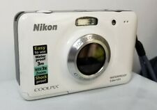Nikon Coolpix S30 Digital Camera Waterproof White  with extras