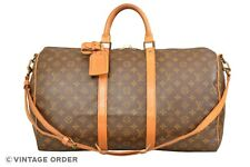 Louis Vuitton Monogram Keepall 50 Bandouliere Travel Bag Strap M41416 - YG01259