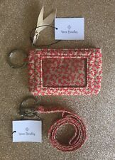 NEW Vera Bradley |  Iconic Zip ID Case and Lanyard | Desert Cloud