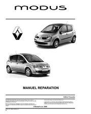 manuel atelier entretien reparation Renault Modus et Grand Modus Phase 1 et 2 Fr
