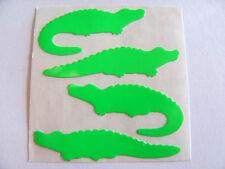 Vintage Sandylion Neon Green Crocodile Alligator Croc Gator Sticker Mod