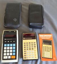 Vintage Texas Instrument Calculators Ti-2550 & Business Analyst I Both Work Vgc