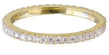 14k Yellow Gold Round Cut Diamond Band Anniversary Eternity Style Bridal 0.50ctw