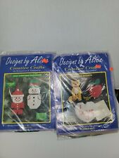 Traditional Holiday Ornaments Plastic Canvas Kit / Designs by Alice lot of 2 B