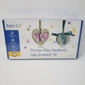 Bubzi Co Baby Footprint Kit & Handprint Ornament for Baby Girl Gifts & Baby Boy
