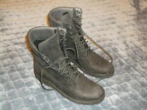THURSDAY Boot Explorer. Size 11.5 US.  Matte Black. Resilient Leather. MINT COND
