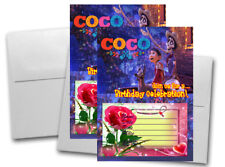 12 COCO Birthday Invitation Cards (12 White Envelops Included) #2
