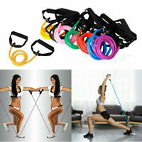 Durable Resistance Band Set Yoga Pilates Exercise Fitness Tube Workout Bands