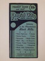 RAPID CITY South Dakota 1950 TOURIST travel Guide MAP Black Hills