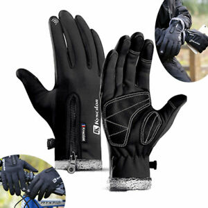 Bike Cycling Gloves Winter Thermal Warm Touch Screen Full Finger Windproof Sport