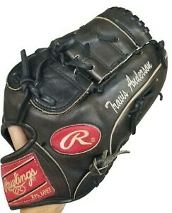 Rawlings Heart of Hide PRO1000-9JB Glove Mitt RHT Name Stitched Travis Anderson