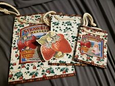 Strawberry Meadows Gift Bag Set Of 3