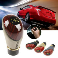 Car Manual 5 Speed Gear Stick Shift Knob Cover Handle Shifter Lever Mahogany