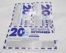 BED, BATH AND BEYOND COUPON 20% OFF ONE ITEM IN STORE OR ON-LINE Lot Of 28
