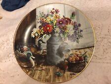 1991 Homespun Beauty #3 Flowers From Grandma's Garden Glenna Kurz Plate