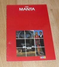 Vauxhall Opel Manta Brochure 1982 GT / J & Berlinetta - 1.8S Coupe & Hatchback