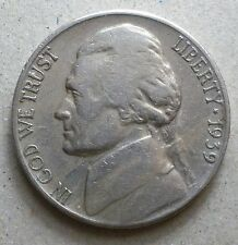 1939-S Jefferson Nickel  01  vg-f   free shipp[ing