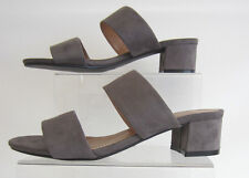 Ladies Anne Michelle Mid Heel Mule Strap Sandals F10627 Grey UK 7 Standard