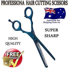 Blue Hairdressing Barber Salon Hair Thinning Scissors Shears Razor Blade