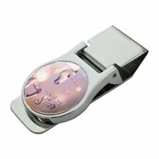 Twinkle Twinkle You're My Star Magical Unicorn Satin Chrome Metal Money Clip