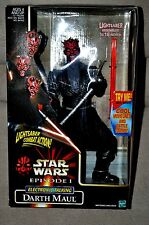 STAR WARS EPISODE 1 ELECTRONIC DARTH MAUL LIGHTSABER COMBAT ACTION 12-inch MISB