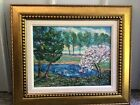 Authentic Beautiful OIL PAINTING ON CANVAS  By  David Burliuk With COA !