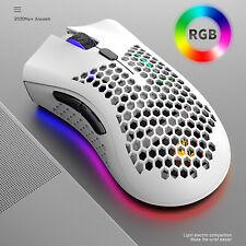 Lightweight Wireless Gaming Mouse Rgb Light 7 Buttons Mice for Desktop Notebook