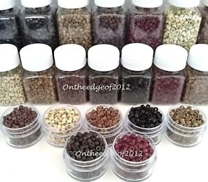 Silicone Lined MICRO link Rings Beads FEATHER & Hair Extensions-Crimp Beads