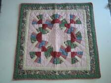"""Original Patchwork Quilt 28"""" x 27"""" """" Scarborough"""" Wall hanging runner signed"""