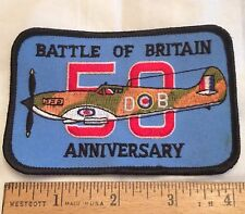 Battle of Britain 50th Anniversary WWII Commemorative Embroidered Patch
