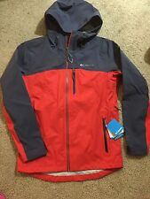 NWT Columbia Mens Mcgregor Peak Jacket  Hommes Size L Grey/red XO1223-691 $280