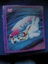 "Coca-Cola Snorkeling Bear w/Cubs 1 ½"" 3 ring binder curveback binder never used"