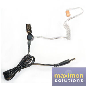 Max-57 Acoustic Listen Only Earpiece for 2 Way Radio with 3.5mm Jack