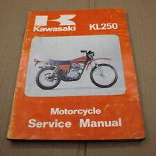 MANUEL REVUE TECHNIQUE D ATELIER  KAWASAKI KL 250 1977-> SERVICE MANUAL ANGLAIS