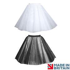 Adult Size Tutu/ Netting Underskirt, Petticoat, White/ Black, 4 LAYERS