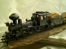 On30 -Logging Steam  Locomotive - DCC onboard- custom weathered, painted- lot B#