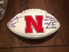 Nebraska Cornhuskers AUTOGRAPH FOOTBALL Heisman Rozier Rogers Couch Bigred