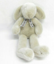 1999 Manhattan Toy Co Tan Bunny Rabbit Stuffed Plush Plaid Bow