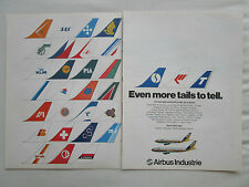 1/1980 PUB AIRBUS A300 A310 AIRLINER AIRLINES TAILS PIA SAS KLM LAKER SABENA AD