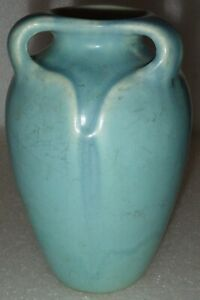 1927 Rookwood XXVII 2428 Blue 3 Handled Vase